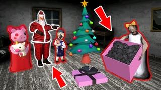 Granny vs Fake Santa  - funny horror animation parody ()