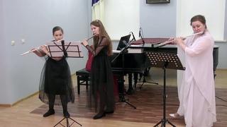 А. Вивальди Концерт для 3-х скрипок 1 ч. Исп. Е. Исаева, Е. Махринова, А.М. Абакарова, О. Бер.
