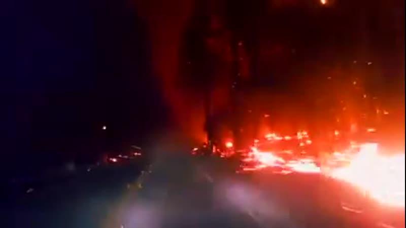 Дорога через огненный лес