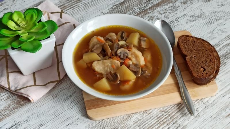Грибной суп с фасолью от Екатерины Костюк