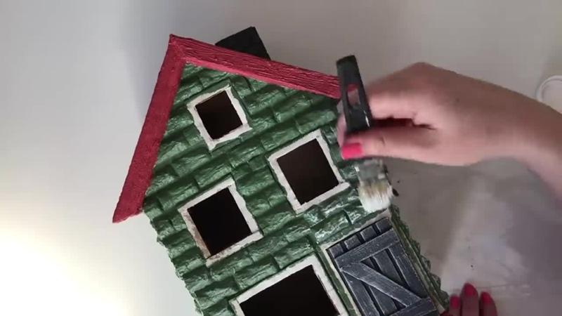 Кирпичный дом своими руками из картона