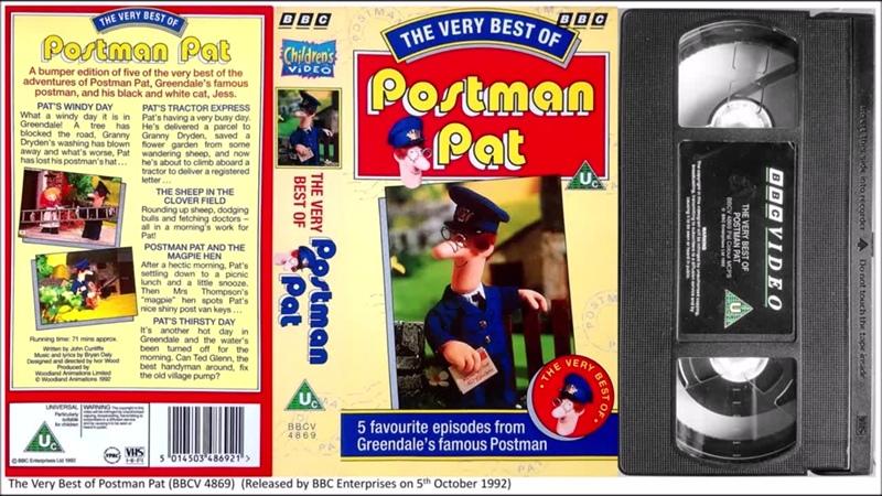 The Very Best of Postman Pat BBCV 4869 1992 UK VHS Remastered