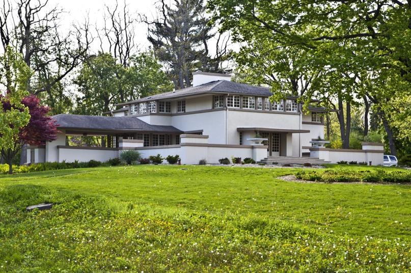 Дом А. В. Гридли, Батавия, Иллинойс, спроектированный Фрэнком Ллойдом Райтом, 1906.