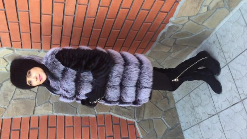 В НАЛИЧИИ!!! Шикарная жилетка из меха ФИНСКОГО ПЕСЦА