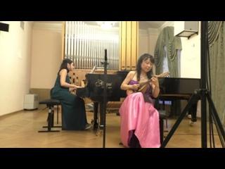 Салъватор Леонарди. Воспоминание о Неаполе Норико Итами (мандолина) Япония  Партия фортепиано —  Наталья Соколовская, Россия