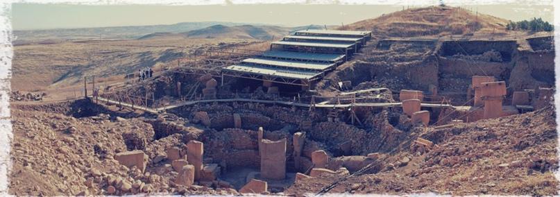 Общий вид раскопок в Гёбекли-Тепе