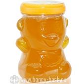 Мед фасованный пл.банка «Мишка» 0,45 кг