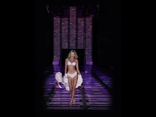 #VSFashionShow sneak peek: @elsahosk warms up the runway the Sexy Illusions bra before the film roll