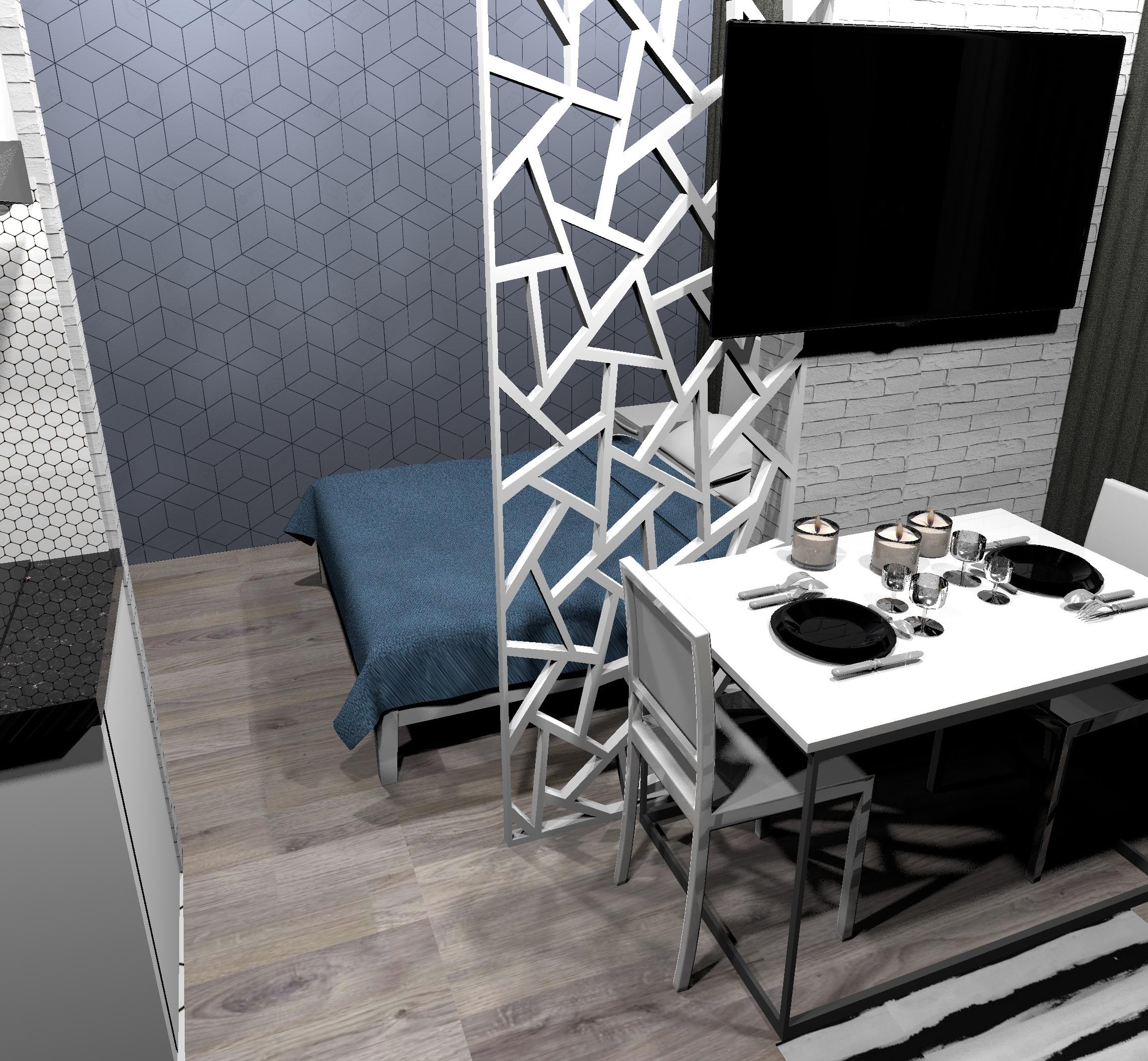 Проект маленькой квартиры-студии 23,7 кв/м.