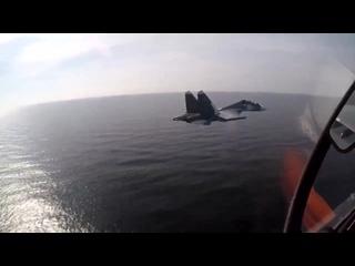 Тренировки Су-30СМ морской авиации БФ