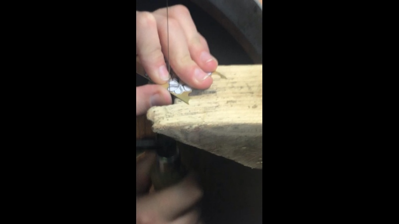 Выпиловка листика клевера из латунного проката Смотри как круто