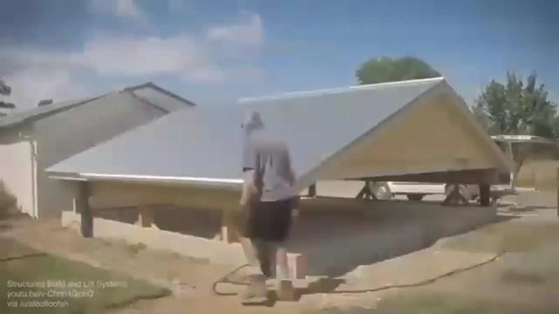 Строительство дома, начинающееся с крыши.
