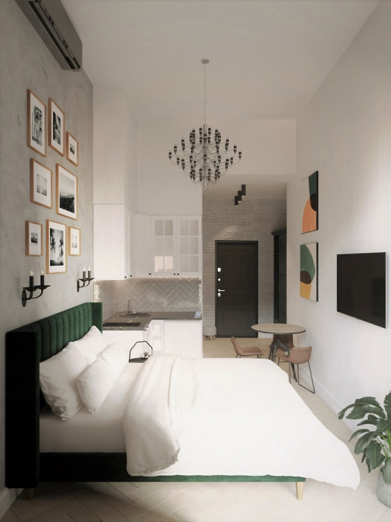 Проект маленькой квартиры-студии почти 18 м.