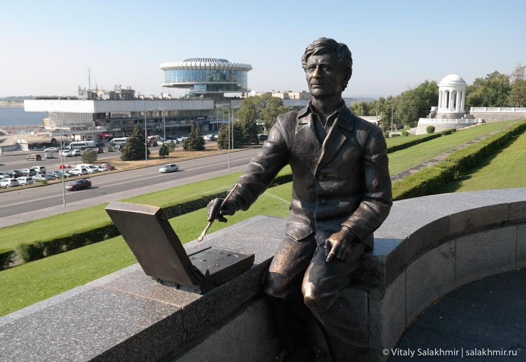 Памятник художнику Лосеву, Волгоград 2020