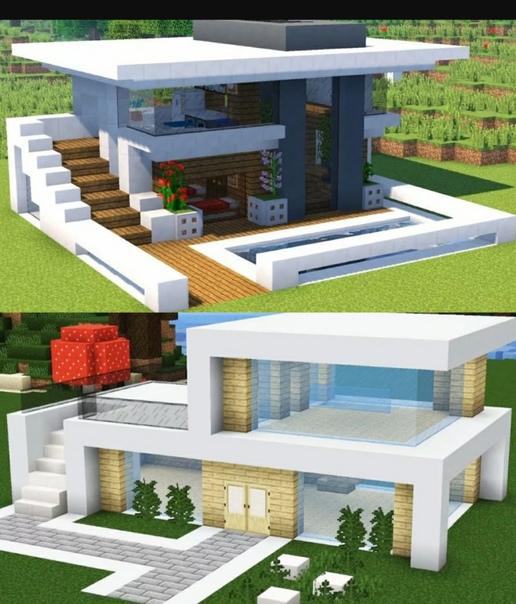 картинки красивых домов в майнкрафте #7