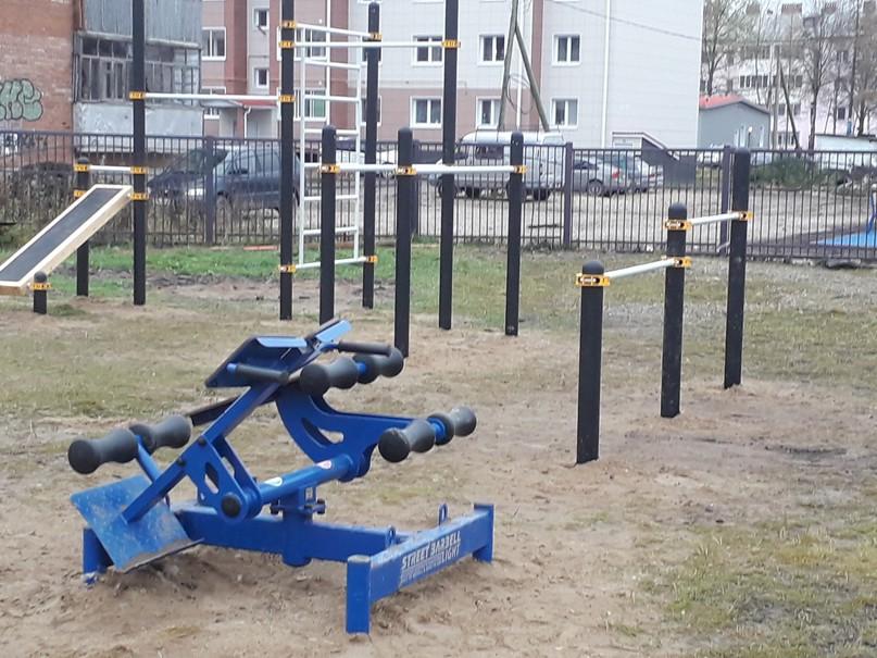 В посёлке Ярега появилась спортивная площадка, изображение №2