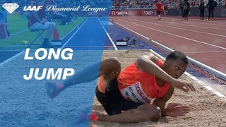 Juan Miguel Echevarría Jumps  To Win Men's Long Jump - IAAF Diamond League Stockholm 2018