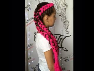 Видео урок по плетению кос с брейдами