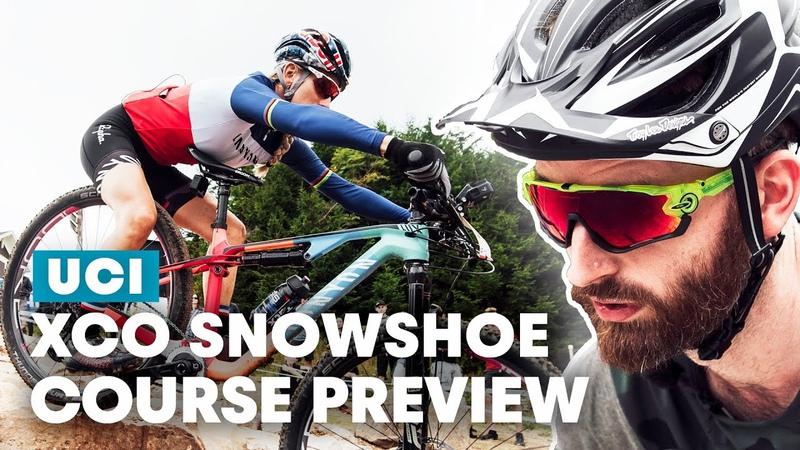 XCO Snowshoe Course Preview with Pauline Ferrand Prévot UCI MTB World Cup 2019