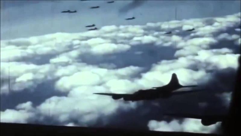 World War 2 Air War Combat Footage in Color