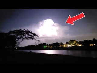 Strange Lightning Clouds without thunder sound! Must watch