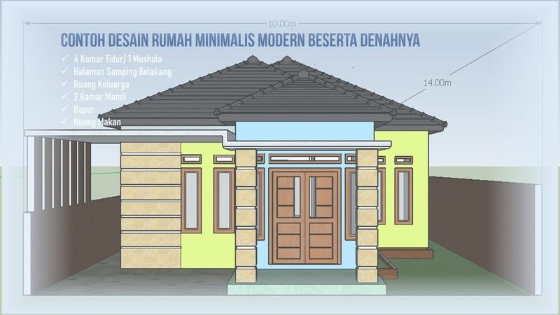 Contoh Inspirasi Desain Rumah Minimalis Modern 10 x 14 Terbaru Beserta Denahnya