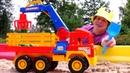 Моя песочница для малышей— Видео смашинками для самых маленьких— Грузовик сманипулятором