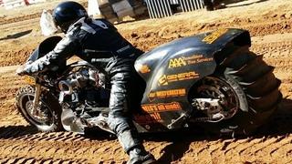 0-100 km/h in 1 sec. - Top Fuel Motorcycle Dirt Drag Racing
