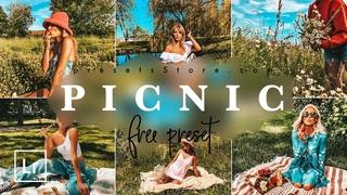 Picnic — Mobile Preset Lightroom DNG   Tutorial   Download Free   Bright Summer Preset   Beach