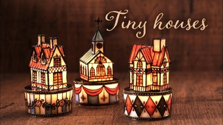 LED  DIY Tiny houses with LED Resin x icing clay