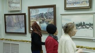 Увидеть снег хотя бы на картинах: традиционную рождественскую выставку открыли в Тамбове