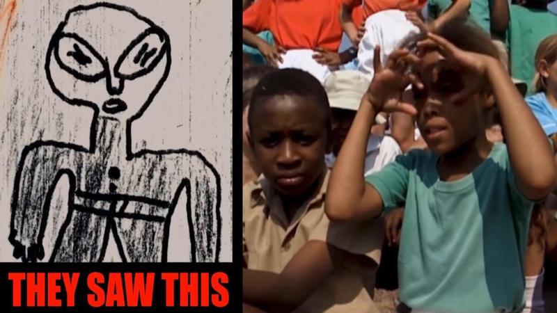 Alien Ship Landing in African School Over 60 Children Witness It