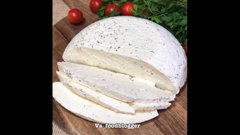 Домашний сыр ингредиенты указаны в описании видео