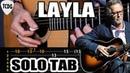 Como tocar el solo de LAYLA Eric Clapton en guitarra acústica Tablaturas TCDG