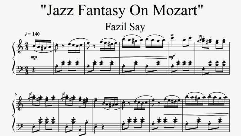 Jazz Fantasy On Mozart Fazil Say Turkish March Improvisation