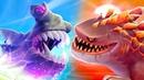 Супер Акулы в Хангри Шарк Эволюшн 6 Обновление. Мистер Кусака, Годкулла и Акула-молот на крутилкины