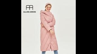 Женская зимняя куртка allure amore, ветрозащитная куртка со стоячим воротником и капюшоном, женская парка из biopuh, защитит от