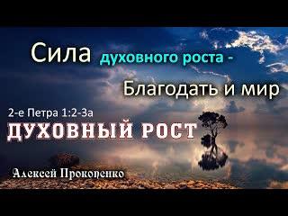 Духовный рост | Сила духовного роста – благодать и мир. 2-е Петра 1:2-3а