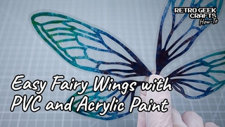 Making Easy Fairy Wings Using Acrylic Paints and a Laminating Pouch - OOAK Dolls and Toys Wings