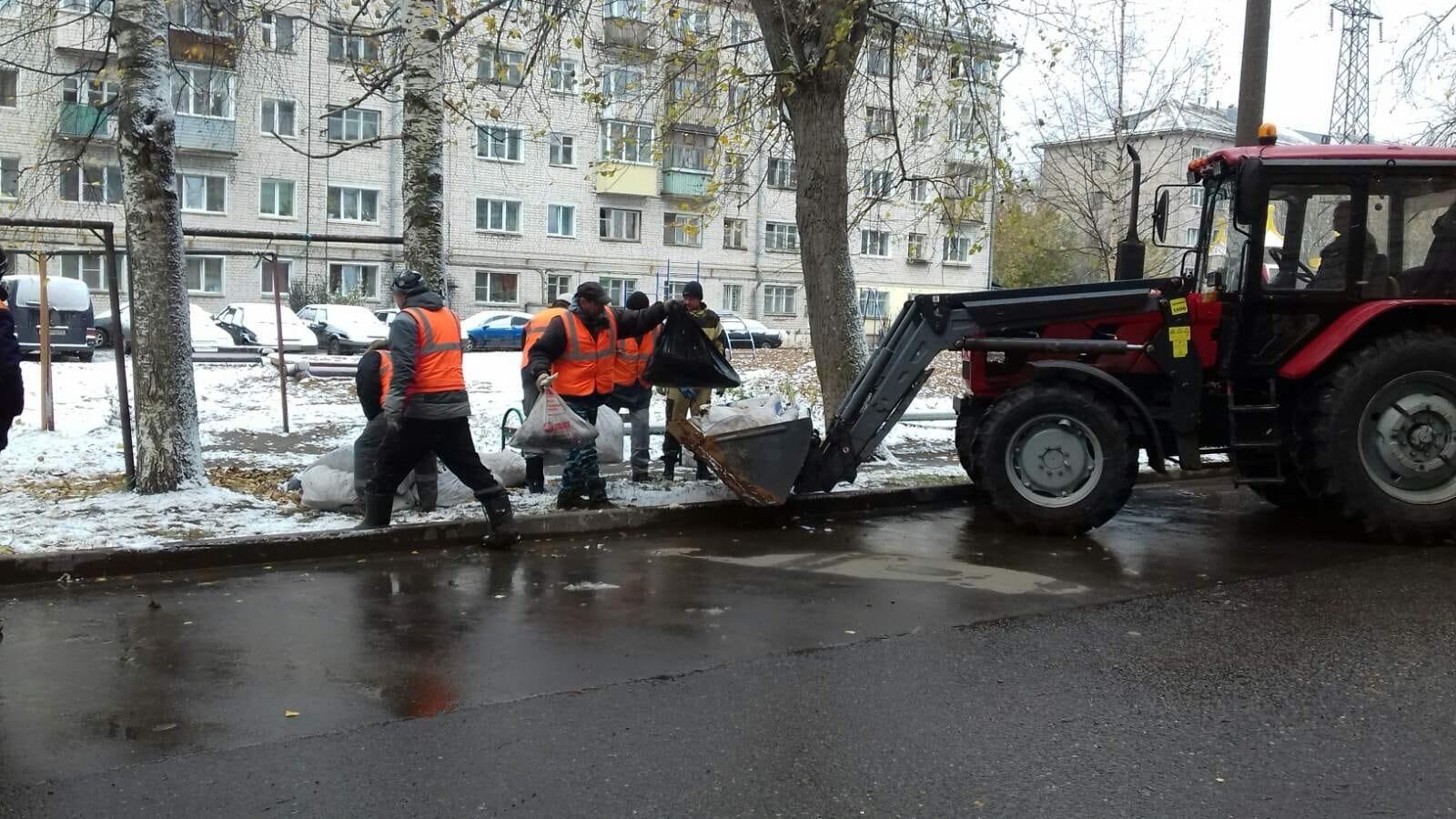 Октябрьский пр- т. 34. Вывоз мусора.