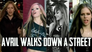 Why does AVRIL LAVIGNE walk down a street in a lot of her music videos? #shorts