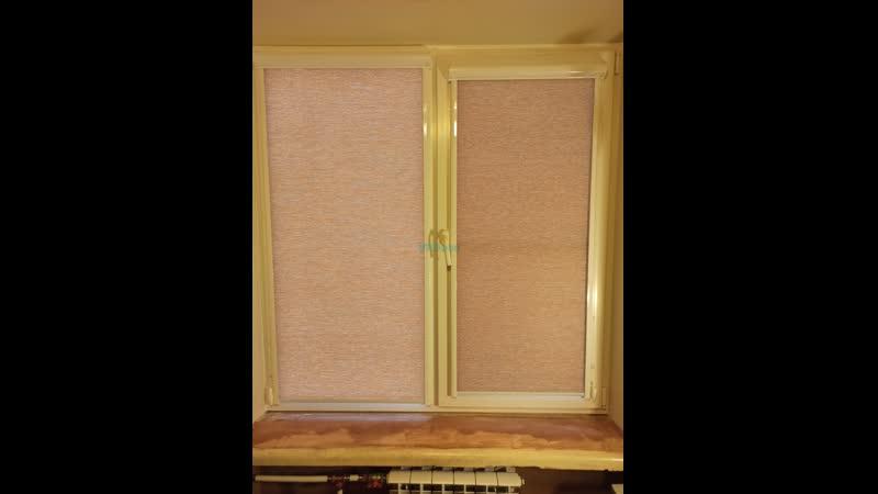 Кассетные рулонные шторы UNi 2 с тканью Сатара