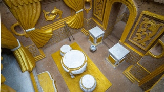 The Most Beautiful Underground Gold Castle Villa House Build by Ancient Skills