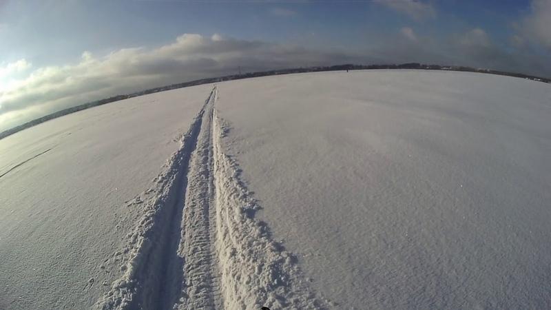 мухтар 15 с лыжным модулем по озеру 24 января 2019г.
