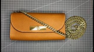 Making a mini handbag (Free PDF Pattern) #leathercraft, #makingbag, #freepattern