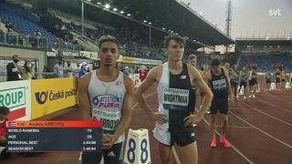 Men 800m Swedish national record - Ostrava golden spike