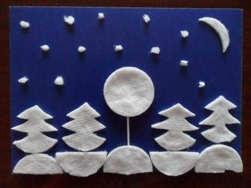 Предлагаю вам интересные идеи аппликаций, поделок на зимнюю новогоднюю тематику для детей из и