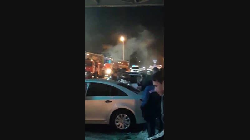 В Белгороде ночью 19 января горел Мега Гринн